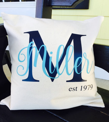 "Personalized and Monogram Throw Pillows, 16""x16"" with Pillow Forms"