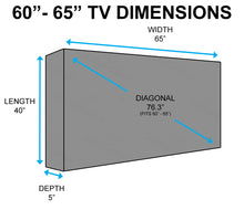 "Grey Outdoor TV Cover (60"" - 65"")"