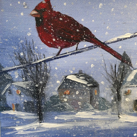 Christmas Bird on a Wire