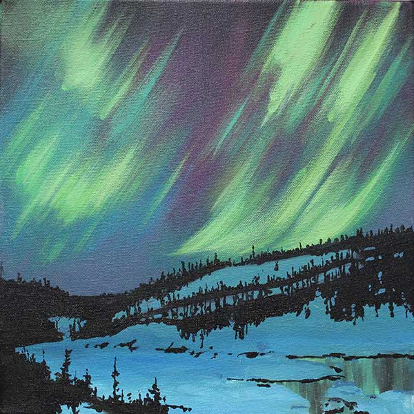 Northern Light Reflection