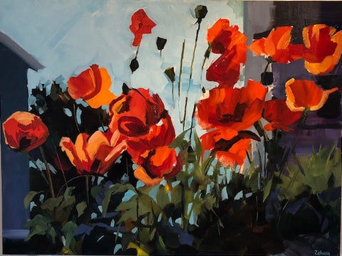Wind Stirred Poppies