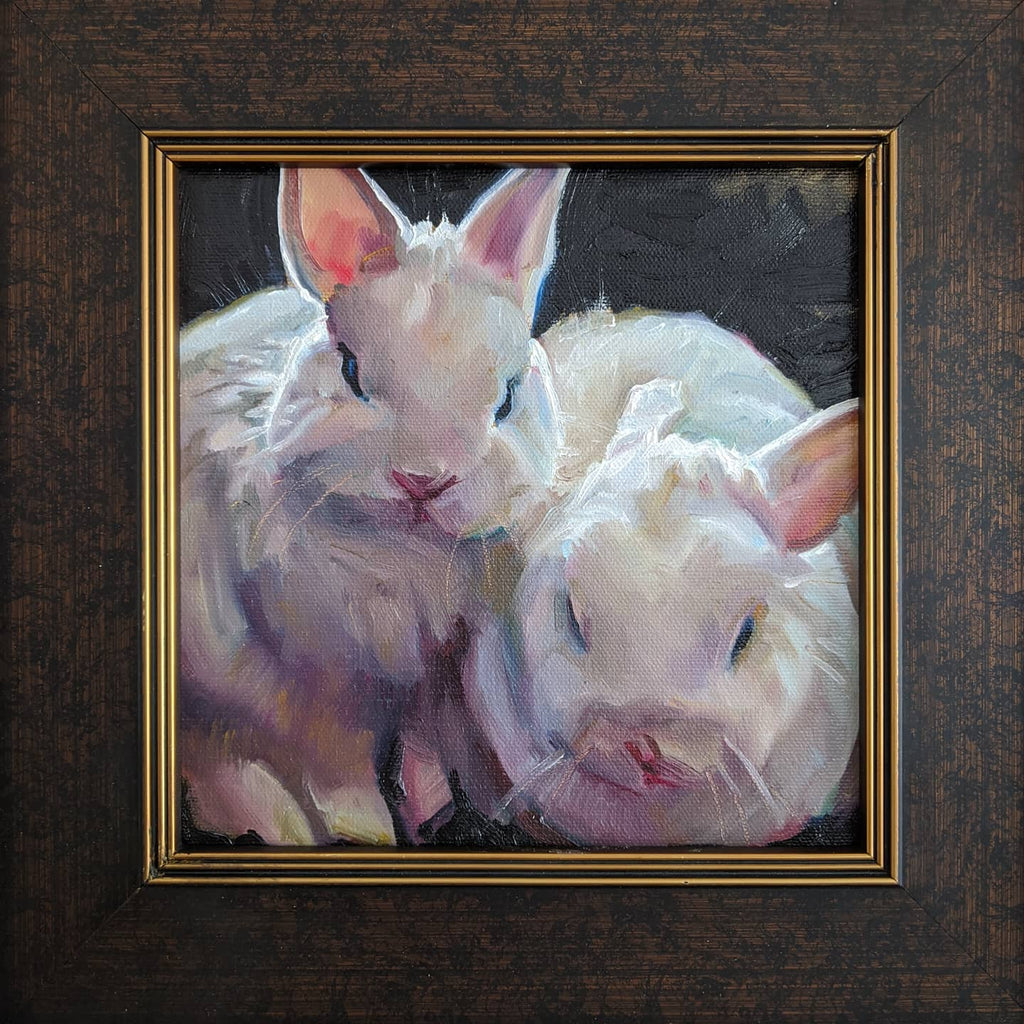 framed-oil-painting-of-two-rabbits-by-artist-Tylor-McNeil