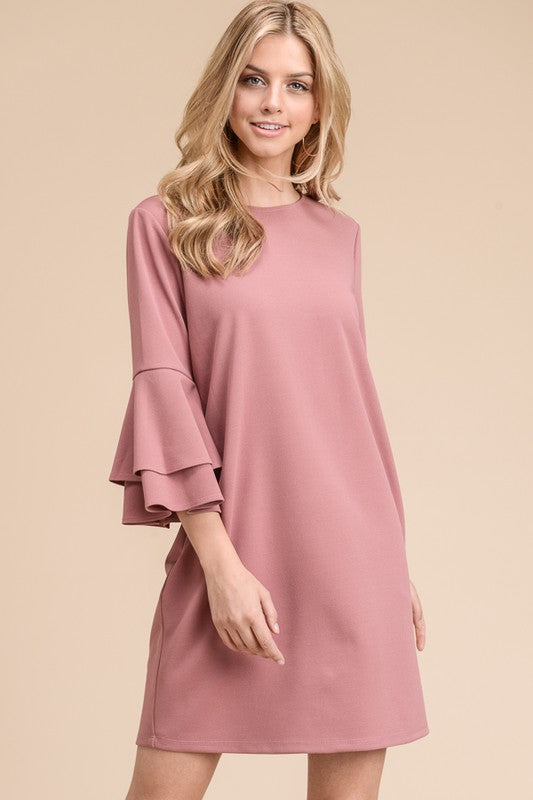 Mary Belle Dress - Mauve - Tucker Brown