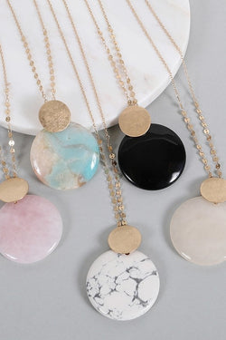 Sun + Moon Necklace - Tucker Brown