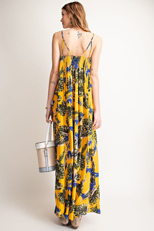 Los Cabos Maxi Dress - Yellow - Tucker Brown
