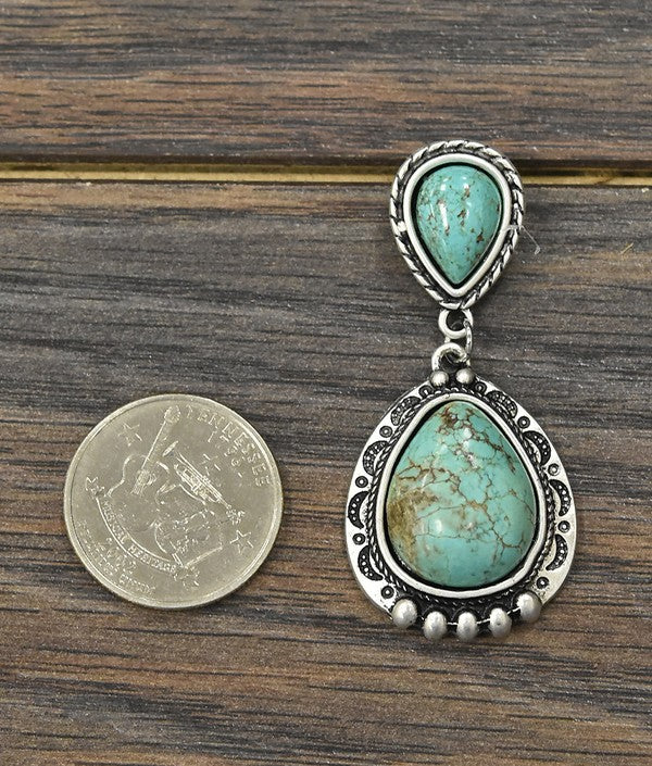 Ruidoso Earring - Turquoise - Tucker Brown