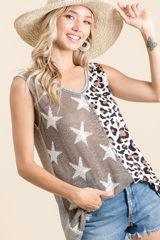 Star of the Jungle Tank - Taupe - Tucker Brown