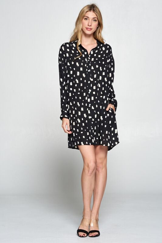 Boxing Day Dress - Black/White - Tucker Brown