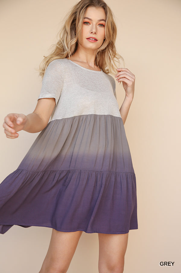 Embers Ombre Tunic - Purple/Grey - Tucker Brown