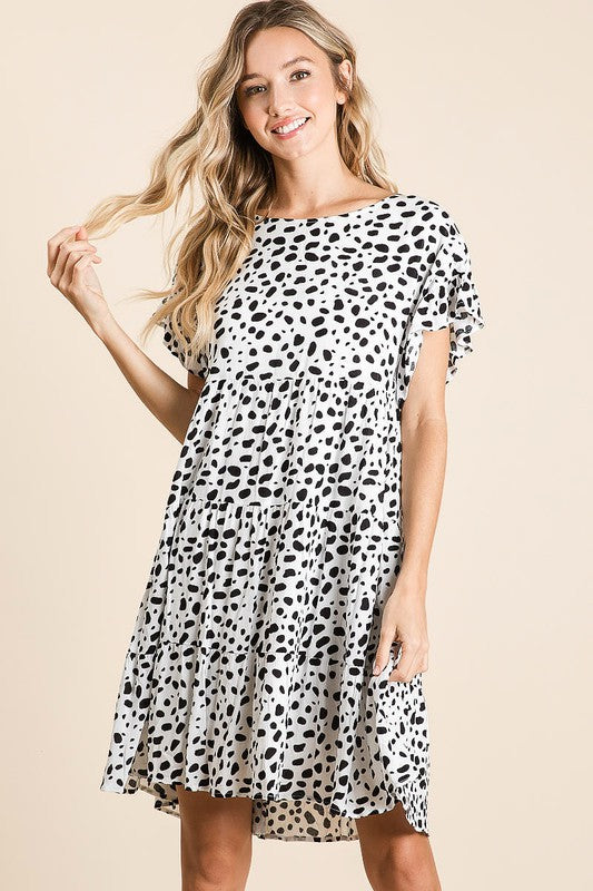 Lil Spot Dot Dress - Black/White - Tucker Brown