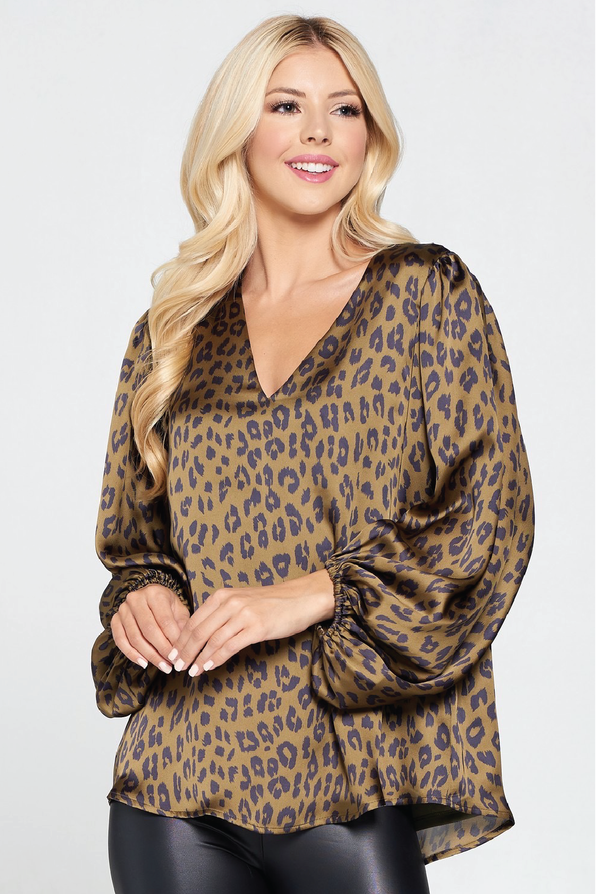 Jungle Lady Blouse - Tucker Brown