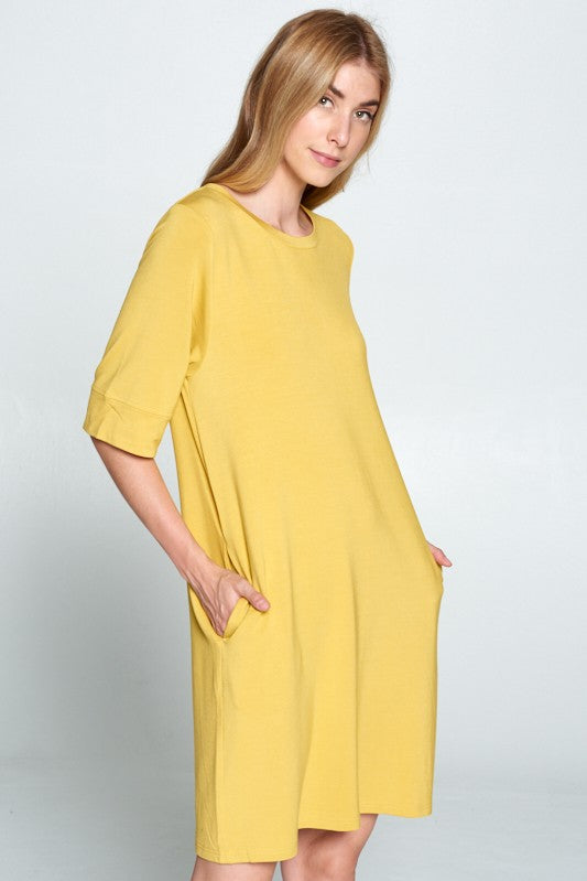 Keeper Tee Dress - Mustard - Tucker Brown