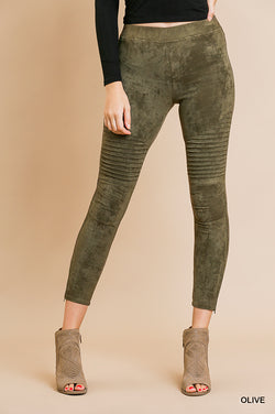Danny Suede Legging - Olive - Tucker Brown