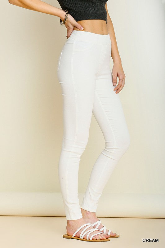 Straight Up Leggings - White - Tucker Brown