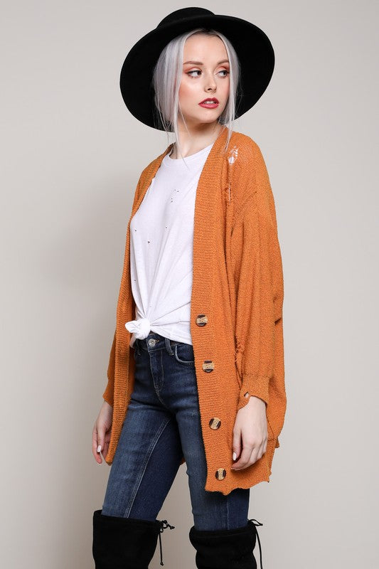 Willingham Scalloped Cardigan - Tucker Brown