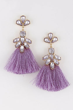 Tassel Chandelier Earring - Tucker Brown