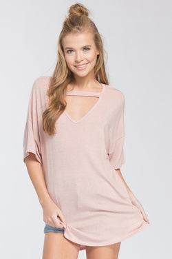 Roxanne Choker Top - Rose - Tucker Brown