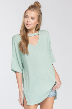 Roxanne Choker Top - Sage - Tucker Brown
