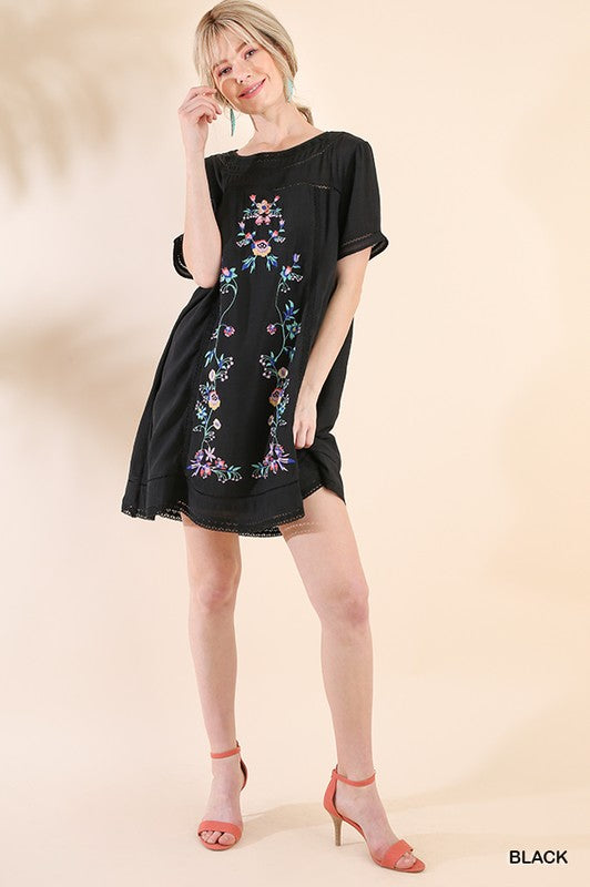 Laura Floral Embroidered Dress