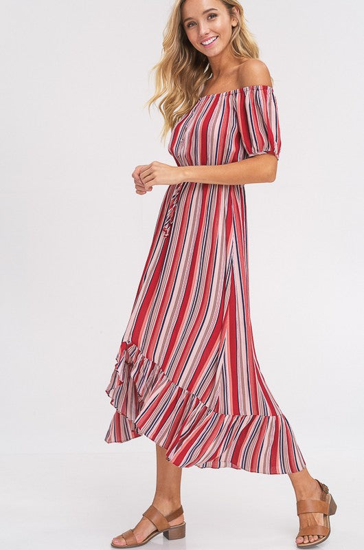 Twirlin' Hi/Lo Dress - Brick - Tucker Brown