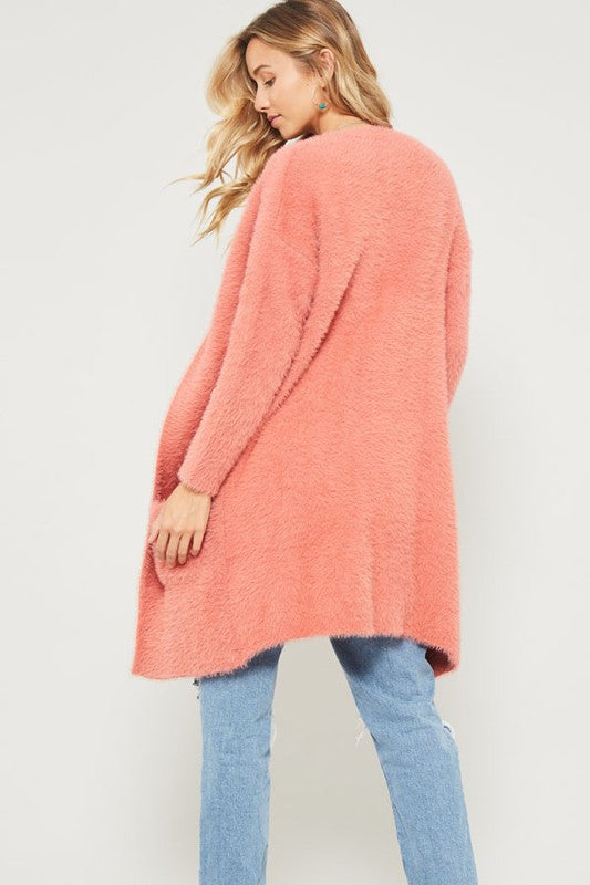 Baby It's Cold Cardi - Coral - Tucker Brown