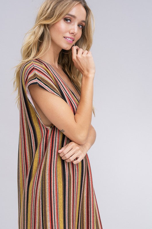 Autumn Sunset Sweater Dress - Mustard - Tucker Brown