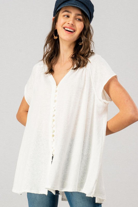 Sweet Tea Blouse - White
