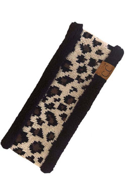 Leopard Head Wrap - Black - Tucker Brown