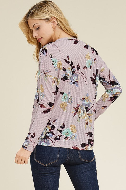 Hathaway Floral Tie Top - Tucker Brown