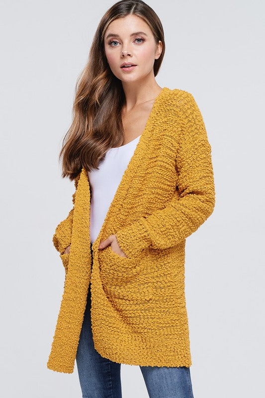 Charlie Long Cardi - Mustard - Tucker Brown
