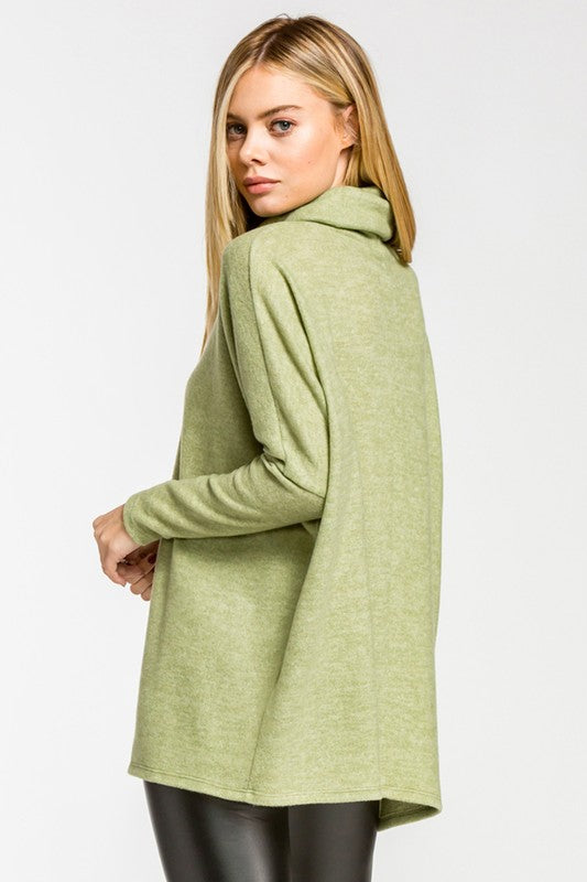 Hi Rise Pullover - Green - Tucker Brown