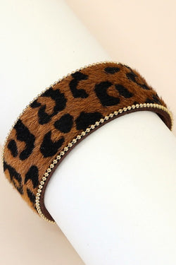 Thin Leopard Bracelet - Tucker Brown