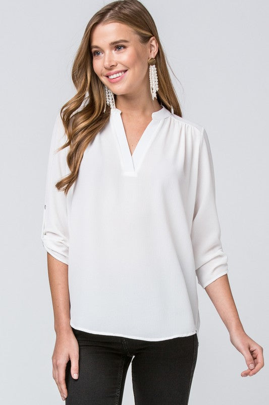 Atlanta Blouse - Ivory - Tucker Brown