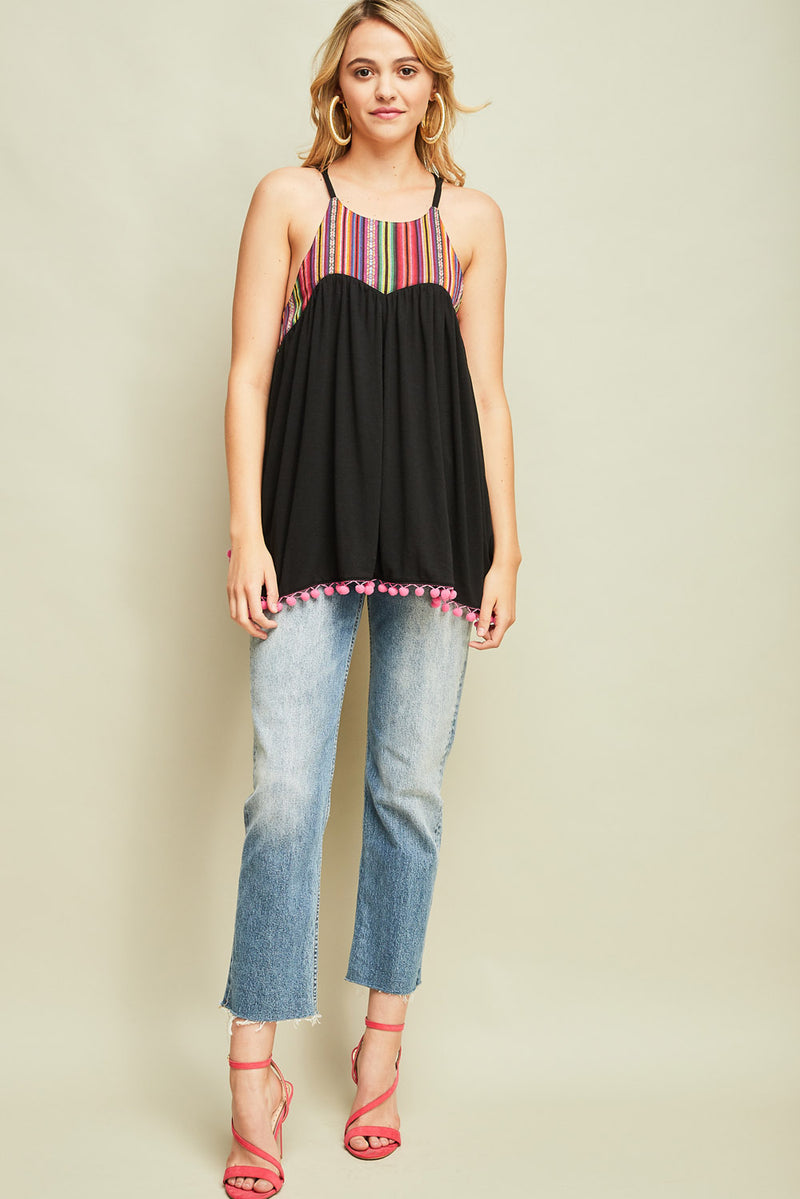 Angela Serape Top - Black - Tucker Brown