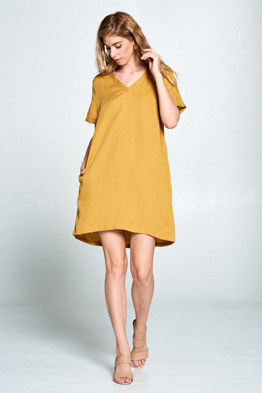 Until Tomorrow Shift Dress - Mustard - Tucker Brown