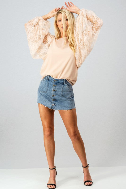 Yvey Lace Blouse - Ivory - Tucker Brown