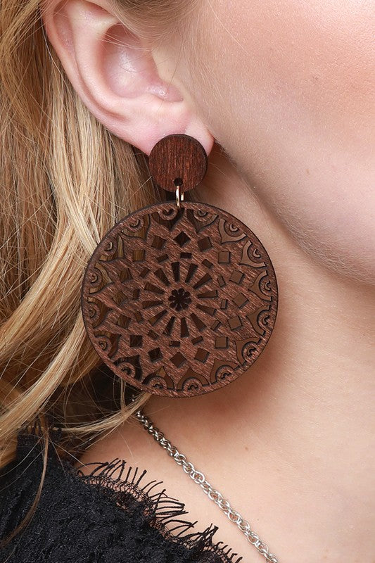 Sundial Earring - Brown - Tucker Brown