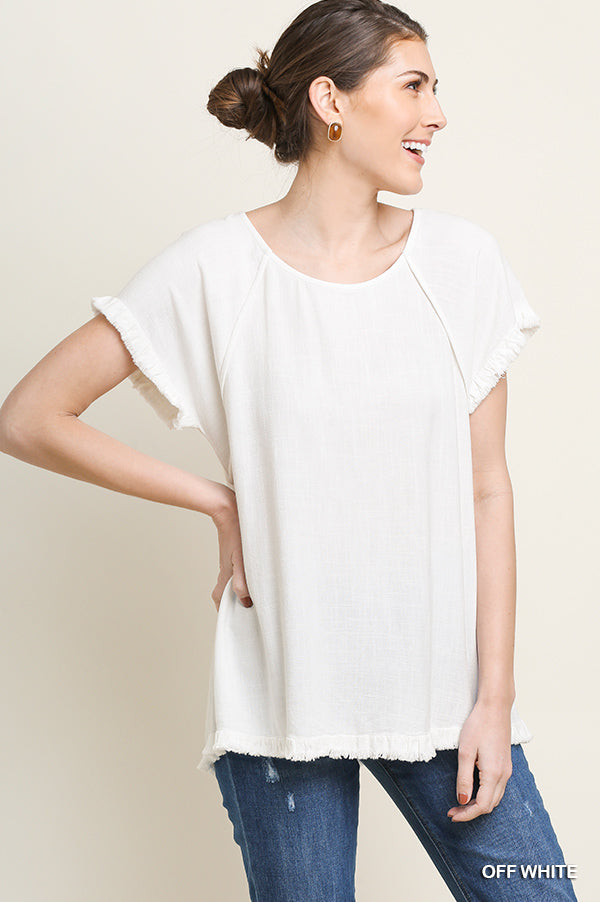 Julie Pintuck Top - Off White - Tucker Brown