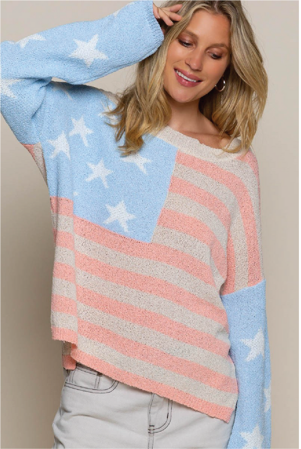 Long Live America Sweater - Tucker Brown