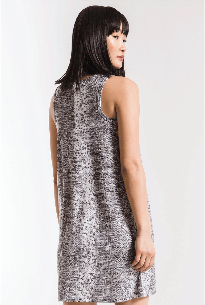 Snakeskin Breezy Dress - Grey - Tucker Brown