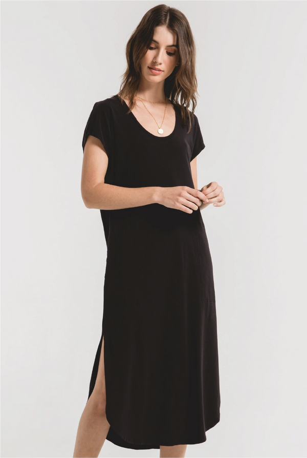 Z Supply - Leira Midi Dress - Black - Tucker Brown
