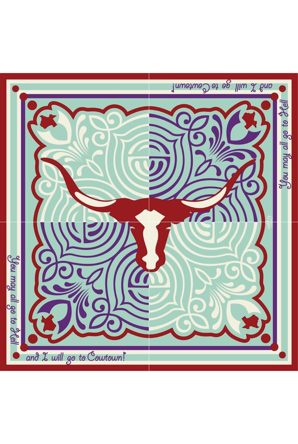 The Cowtown Experience Silk Scarf