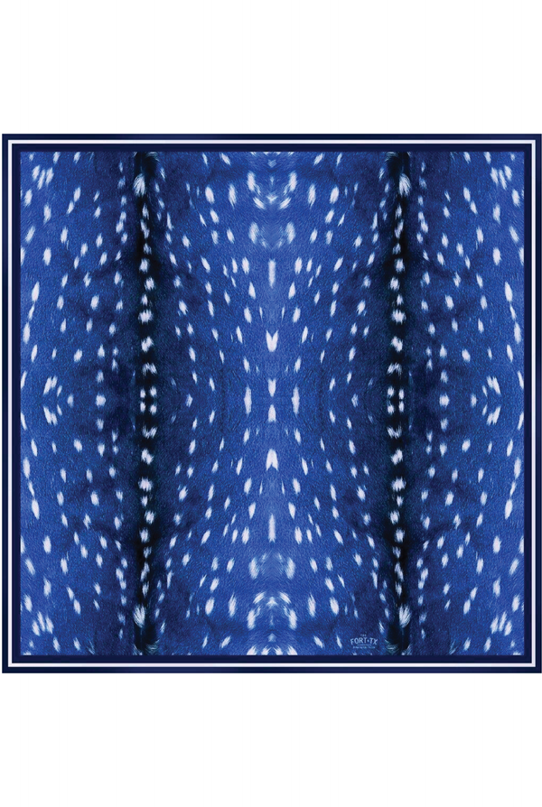 Lauren Azul Silk Scarf - Tucker Brown