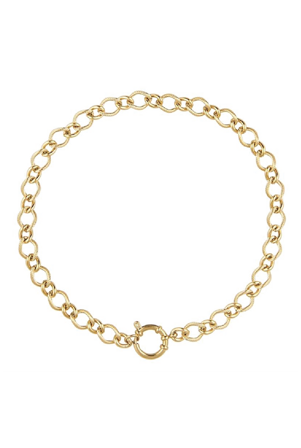 Sienne Links Chain - Gold - Tucker Brown