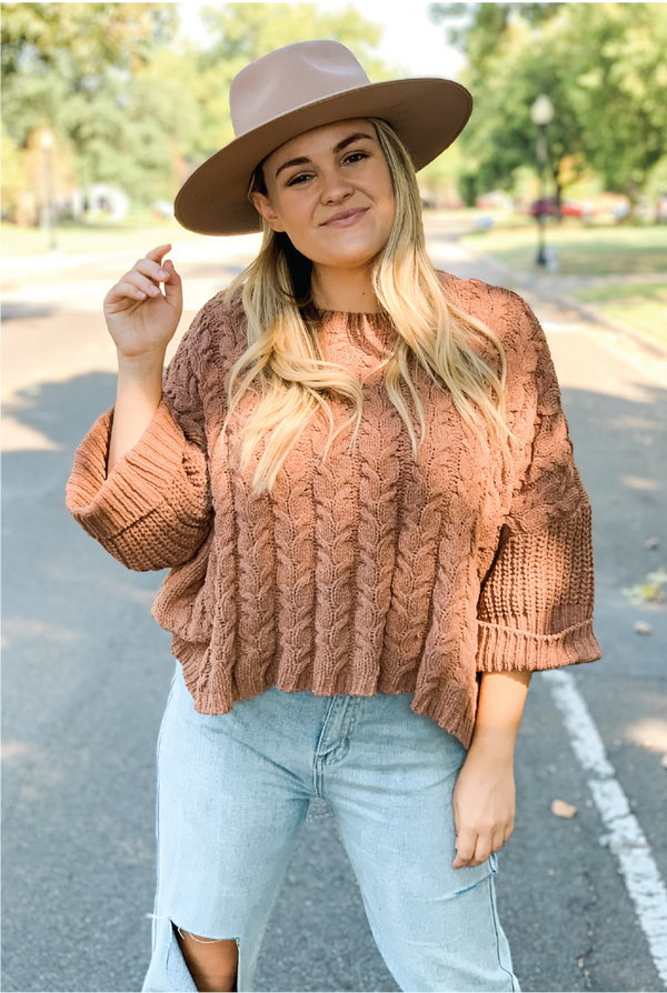 Mocha Latte Sweater - Brown - Tucker Brown