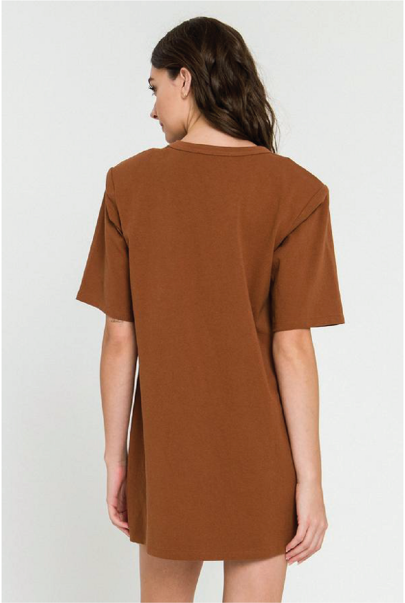 Back To Business Dress - Brown - Tucker Brown