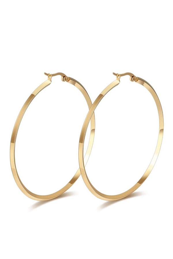 Zoey Hoops - Gold - Tucker Brown