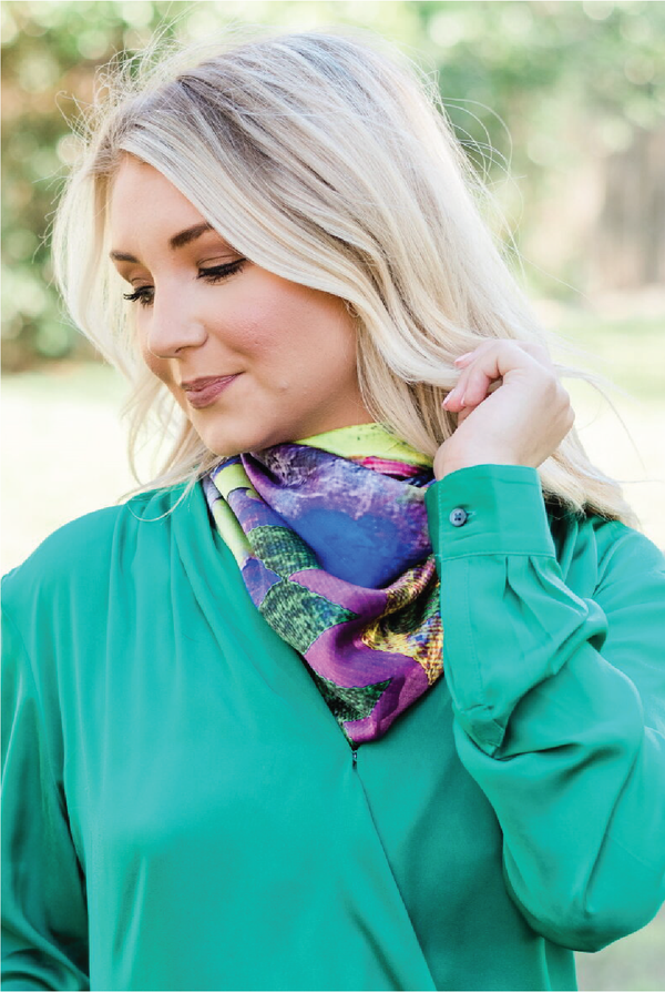 Purple Haze Silk Scarf - Tucker Brown