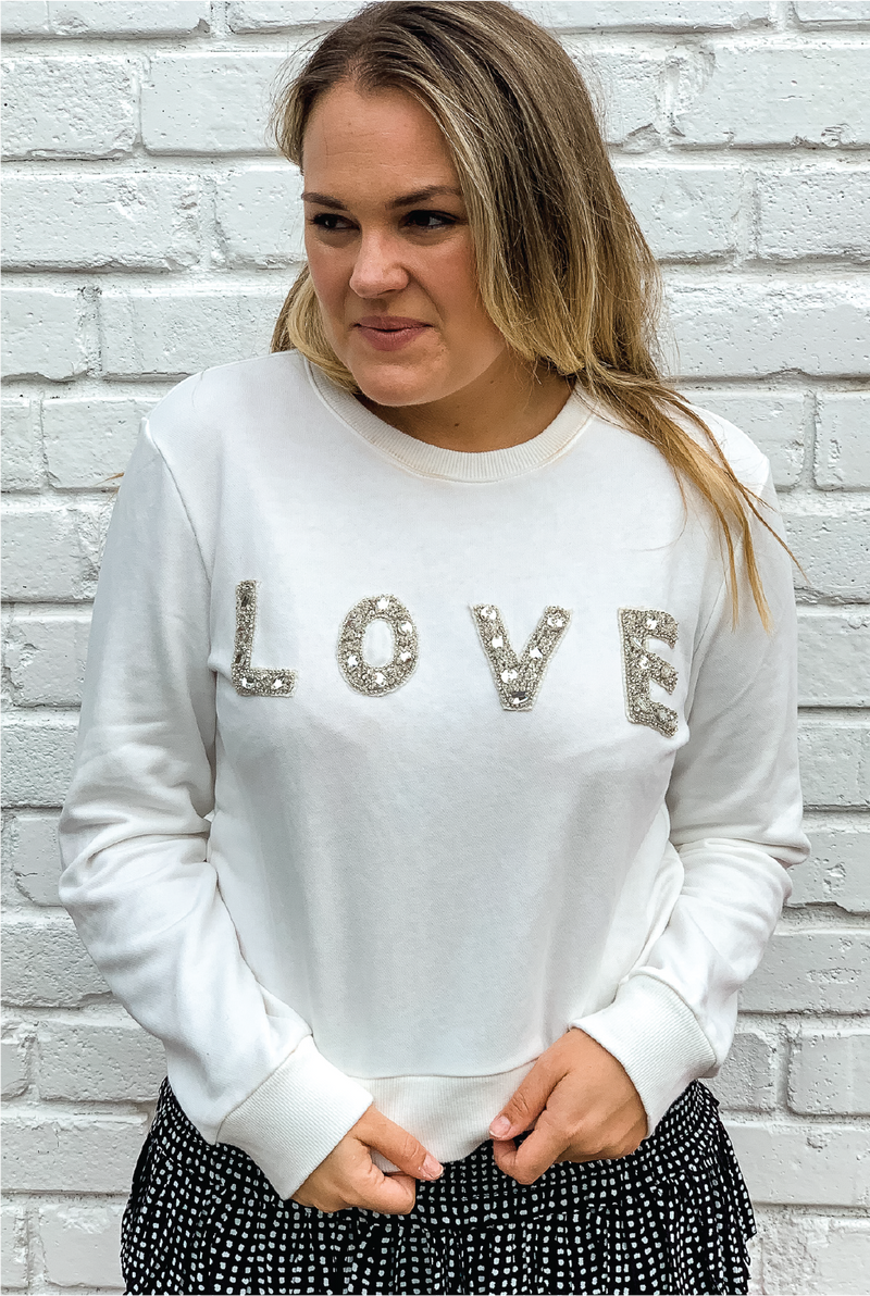 Love 'N Diamonds Sweatshirt - Tucker Brown