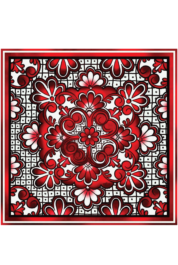 Red Raider Silk Scarf - 42""